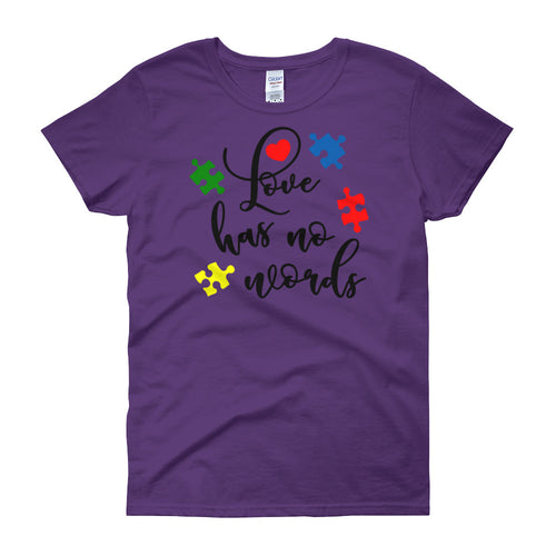 Love has No Words - Women's short sleeve t-shirt - DecoExchange