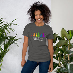 Womens Less Hate More Love Ally Pet Short-Sleeve Unisex T-Shirt