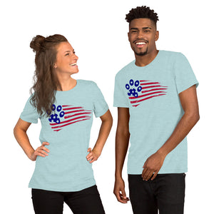 USA Paw Short-Sleeve Unisex T-Shirt