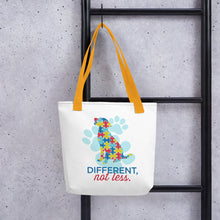 Load image into Gallery viewer, Different Not Less Autism Tote bag