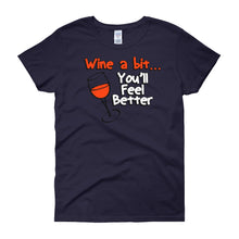 Load image into Gallery viewer, Wine a Bit - Funny - Women's short sleeve t-shirt - DecoExchange