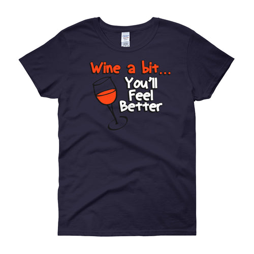 Wine a Bit - Funny - Women's short sleeve t-shirt - DecoExchange