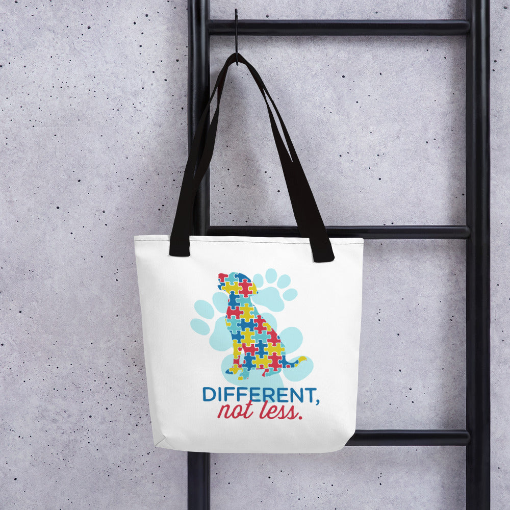 Different Not Less Autism Tote bag