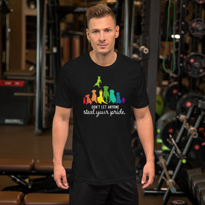 Mens Dont Let Anyone Steal Your Pride Ally Pet Short-Sleeve Unisex T-Shirt