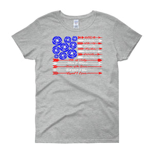 USA - Women's short sleeve t-shirt - DecoExchange