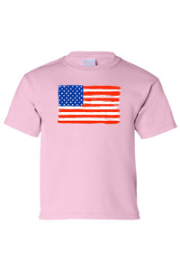 Kids USA Flag Tee proud To Be An American Short