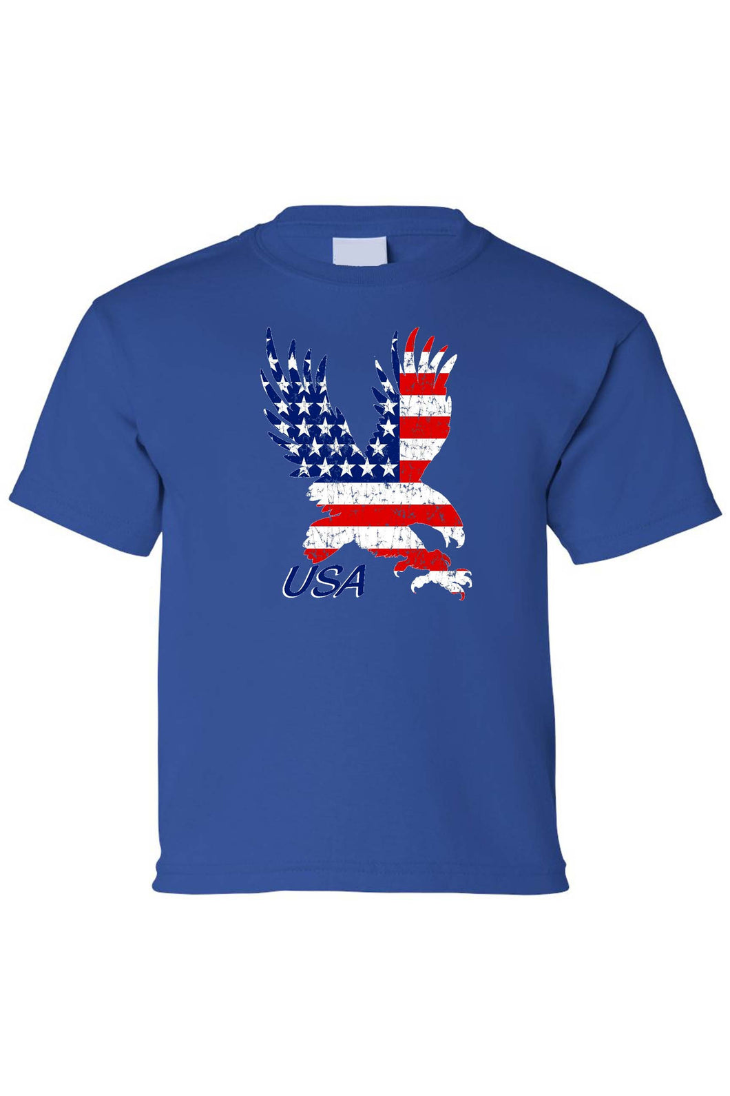 Kids USA Flag Tee American Bald Eagle Short Sleeve