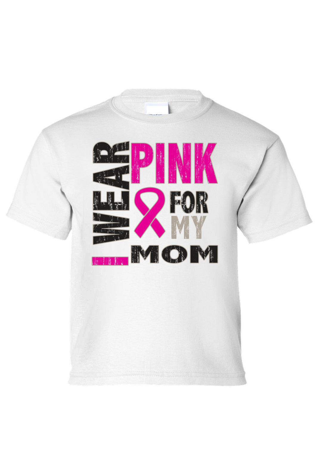 Kids Tee I Wear Pink For My Mom Short Sleeve