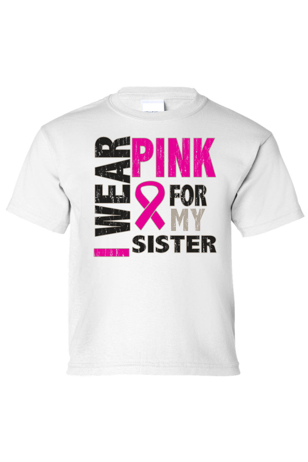 Kids Tee I Wear Pink For My Sister Short Sleeve