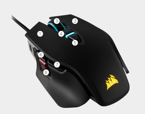 Mouse Gamer Corsair botones programables