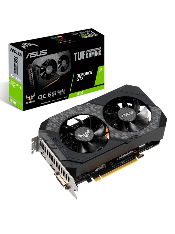 Tarjeta de video ASUS TUF-GTX1660-O6G-GAMING