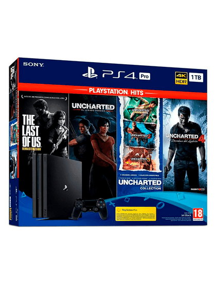 Videojuegos PlayStation 4 Pro 1TB Bundle Hits