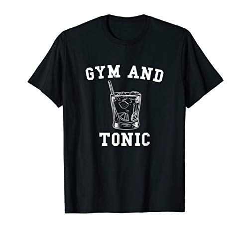 Gym and Tonic Workout and Booze T-Shirt for Men