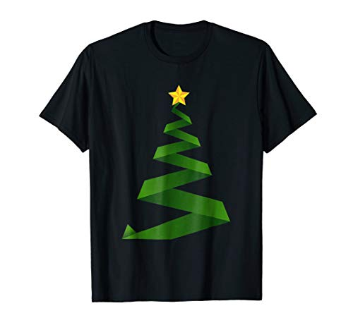 Festive Ribbon Christmas Tree T-Shirt