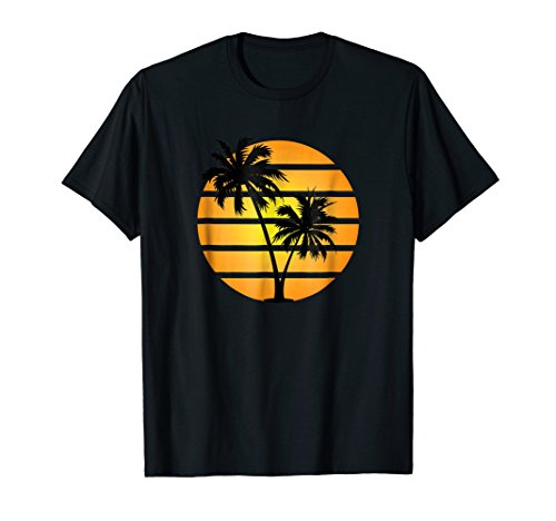 Retro Synthwave Style Sunset T-Shirt - Orange