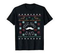 Feliz Navi Dad Ugly Christmas Style Mustache Shirt for Dads