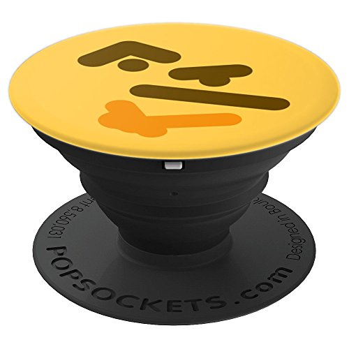 Smiley Face Wondering Smiley Face Meme Design - PopSockets Grip and Stand for Phones and Tablets