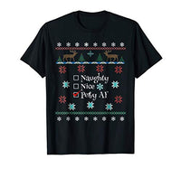 Naughty Nice Petty AF Christmas Shirt for Women