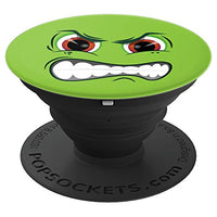 Angry Emoji Face PopSocket - Green