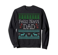 Feliz Navi Dad Punny Christmas Sweatshirt for Dads