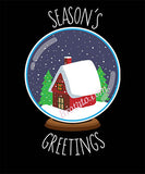 Season's Greetings Snow Globe T-Shirt for Women