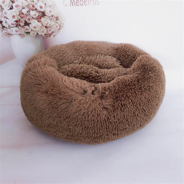 Luxury Round Bed Warm Deep Pet Beds for Cat & Dogs - purepawsco
