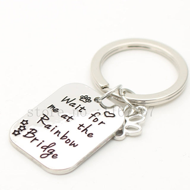 "Personalized Pet Memorial ""Wait for Me at Rainbow Bridge "" I Love My Pet 