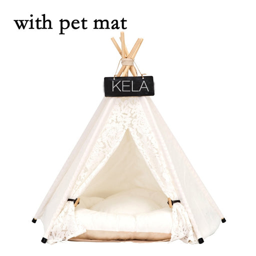 JORMEL Pet Tent Pet bed Portable Washable Dog Puppy Toy House Cat Teepee Star Pattern Contain Mat New 2019 - purepawsco