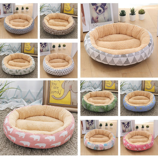 Soft Pet Dog Bed Washable Round Cat Pet House Dog Cushion - purepawsco