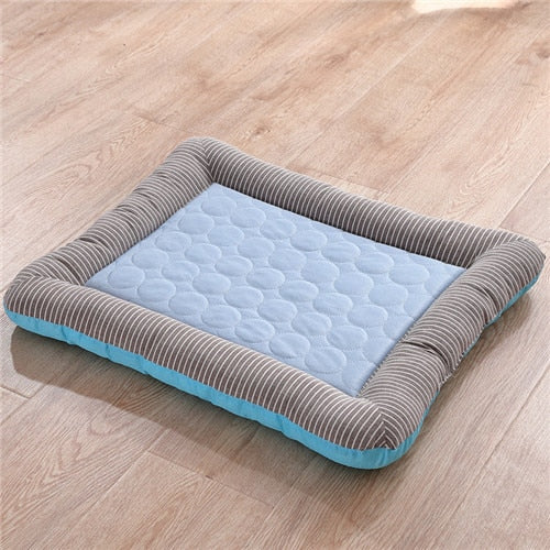 Summer Cooling Sleeping Cold Silk Bed Dog Cats For Pets - purepawsco