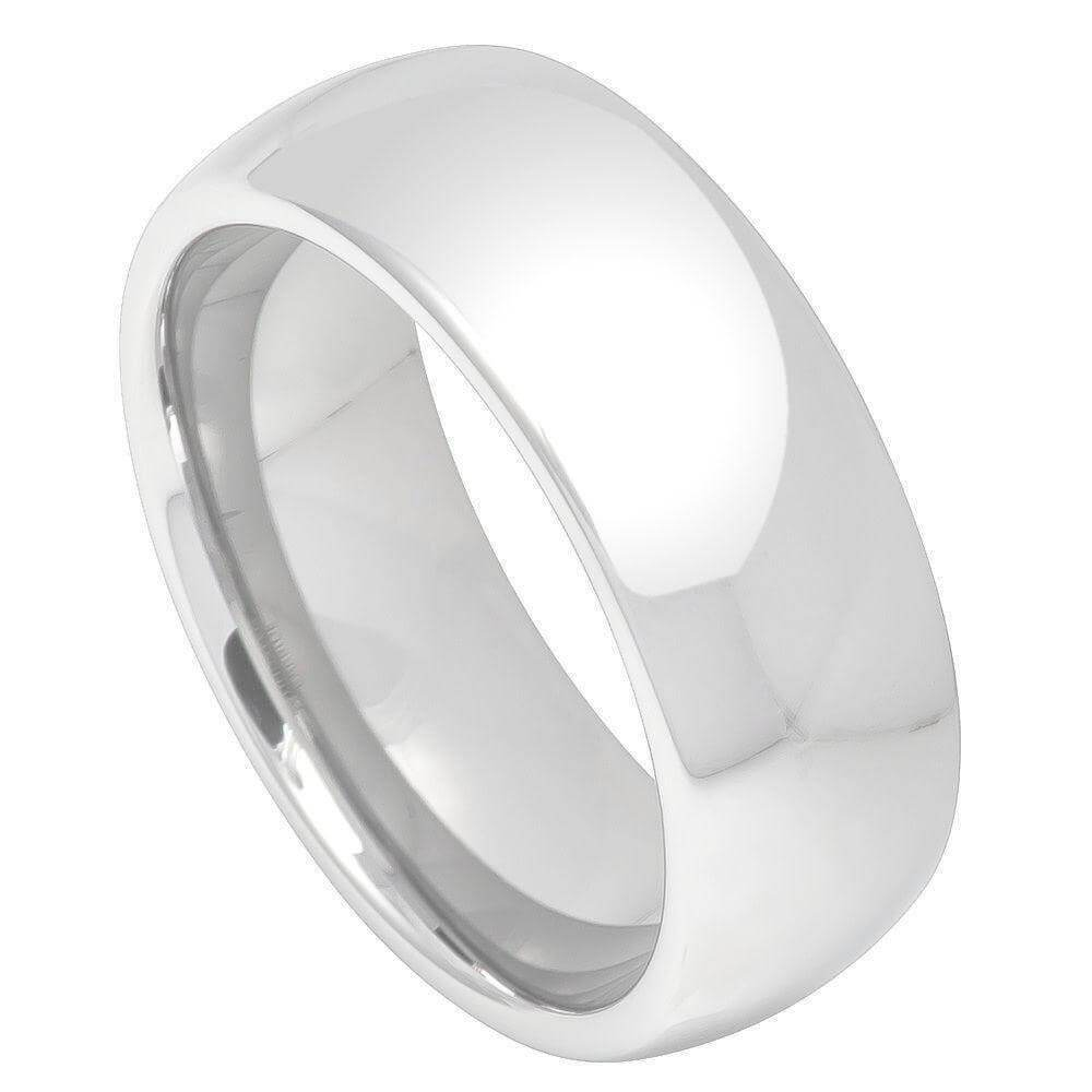 Cobalt Ring High Polish Plain Classic Domed Band - 7mm