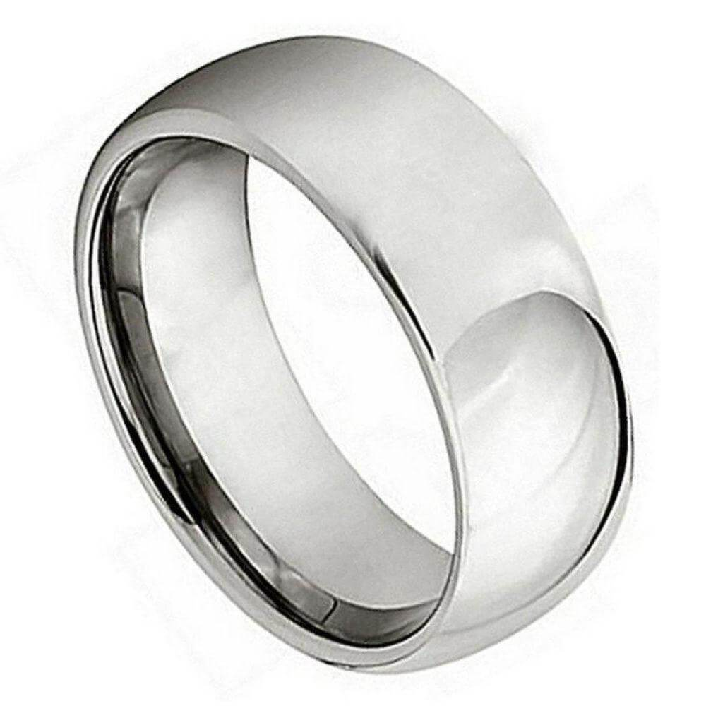 Titanium Polished Shiny Domed Ring - 7mm
