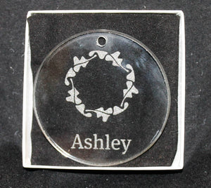 Ashley Round Beveled Glass Ornament