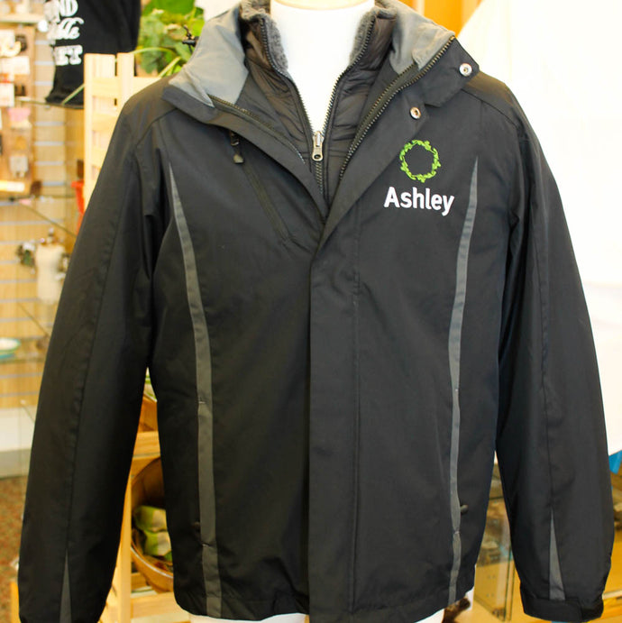 Ashley Port Authority Color Block Men's 3-in-1 Jacket-Ashley/Wreath Logo