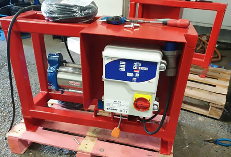 Stuart Pumps Ltd, Designed and Built a 'Fire Application' Water Pumping Solution
