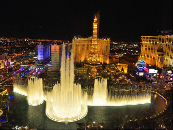 Las Vegas Fountain with Water Features Pumping High Litres Per Minute
