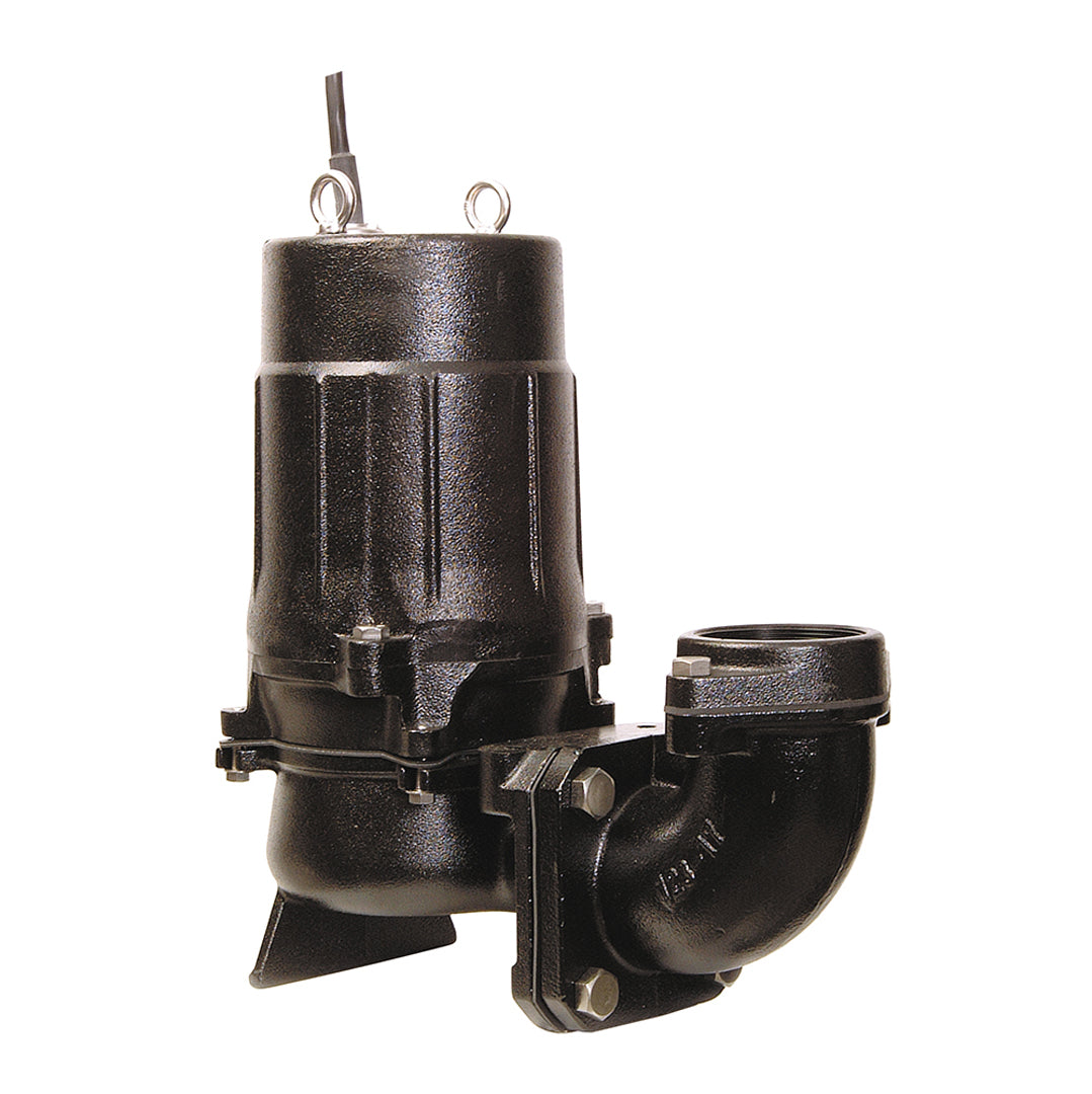 Tsurumi 80U2 Industrial Submersible Pump- with elbow (extra) for free-standing- black cast iron