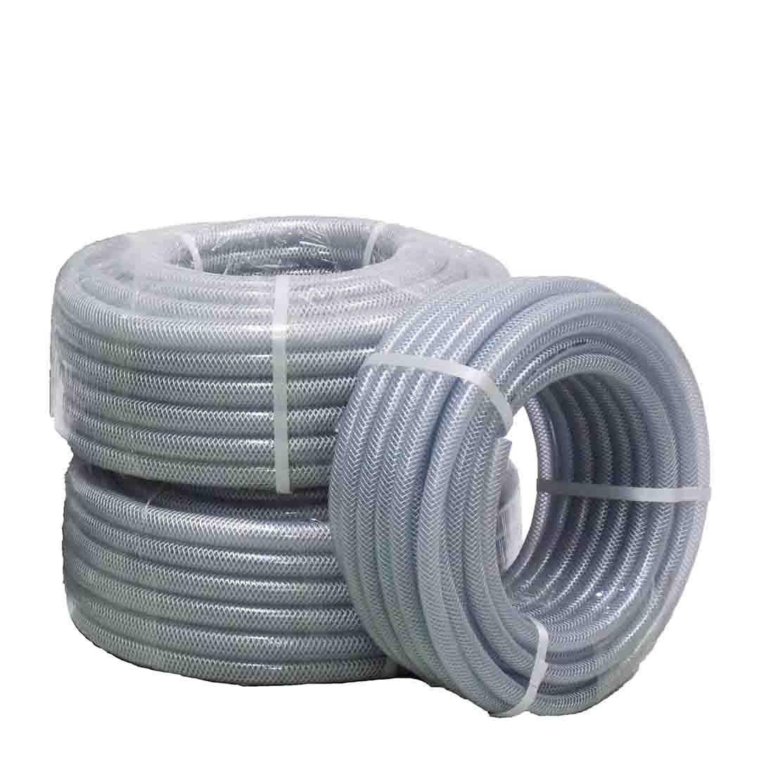"Braided Suction and Delivery Hose (1/2"" - 1 1/4"") Clear PVC flexible hose"