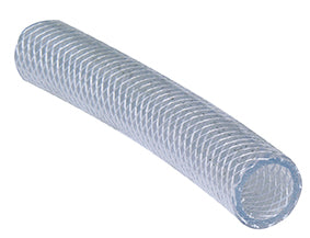 "Close Up image- Braided Suction and Delivery Hose (1/2"" - 1 1/4"") Clear PVC flexible hose"