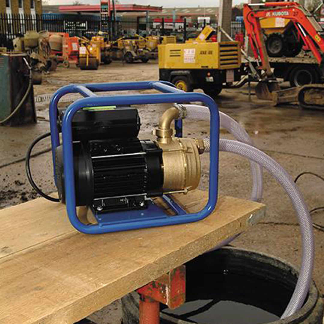 ENT Obart Select Industrial Surface Pump, in full protection frame on work site