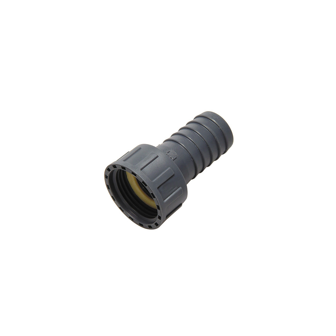 Hose tail c/w female BSP swivel - Polypropylene (grey)