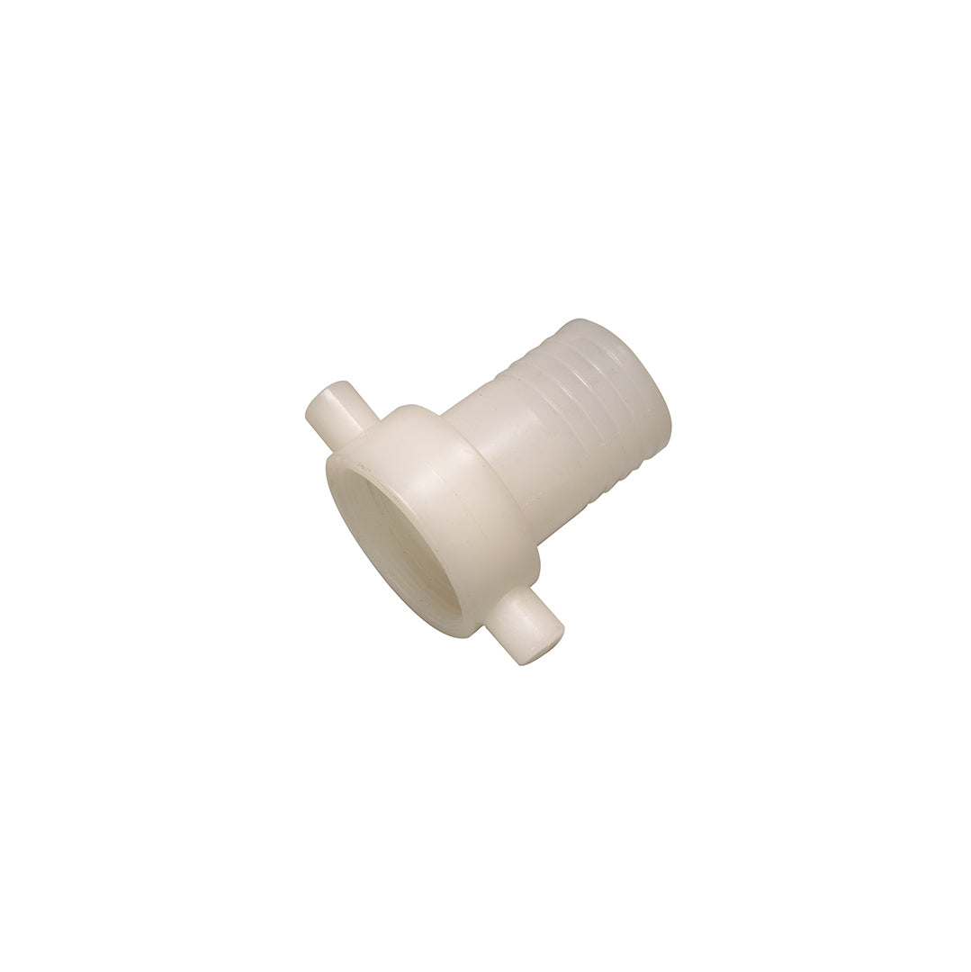 Hose tail c/w female BSP swivel - Polypropylene (white)