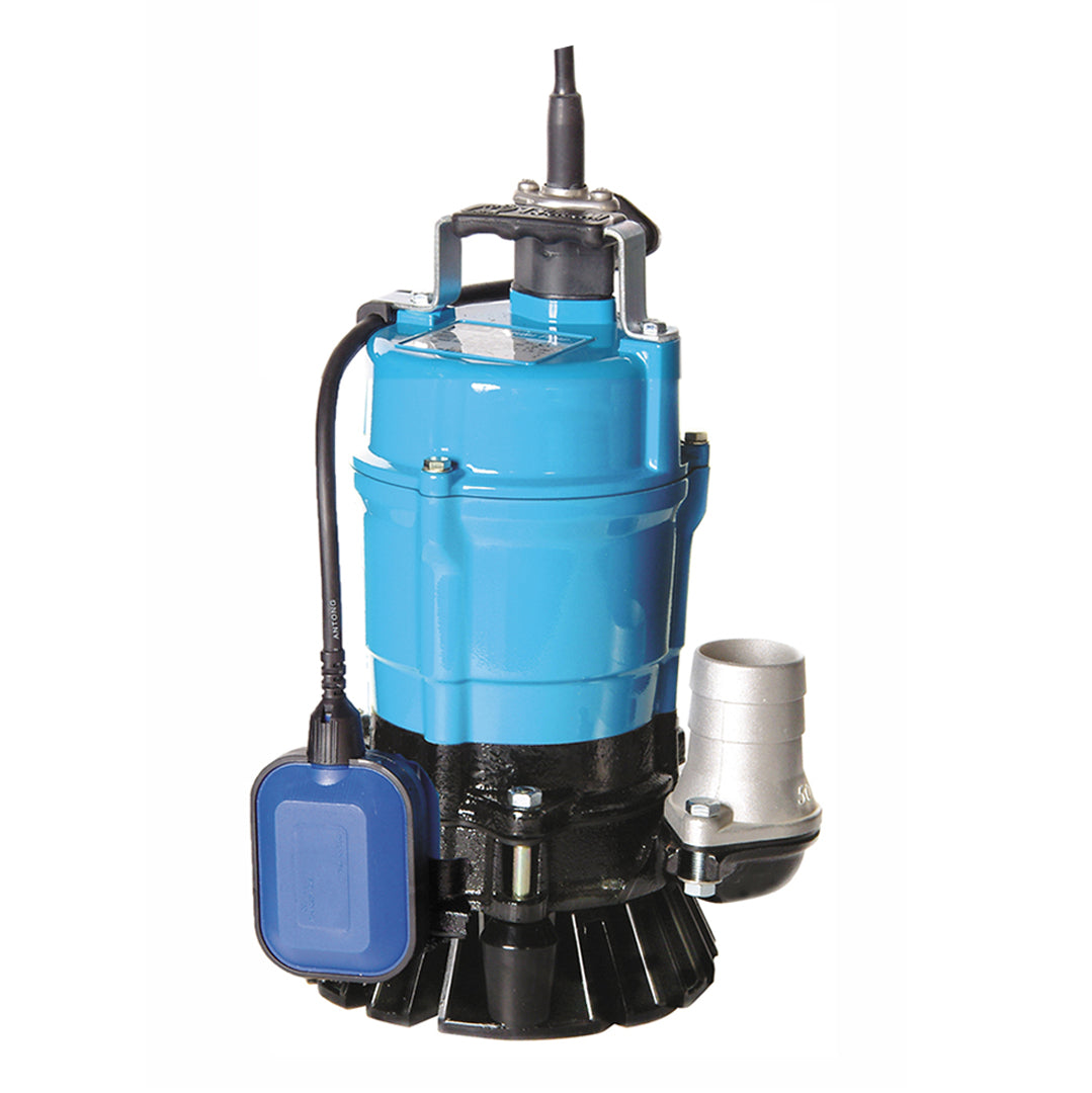 HS2.4S Automatic Single Phase Industrial Pump- Tsurumi Submersible pump- blue solid cast aluminium body