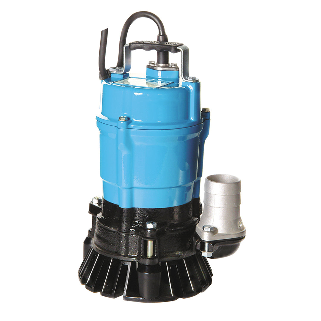 HS2.4S Single Phase Industrial Pump- Tsurumi manual Submersible pump- blue solid cast aluminium body