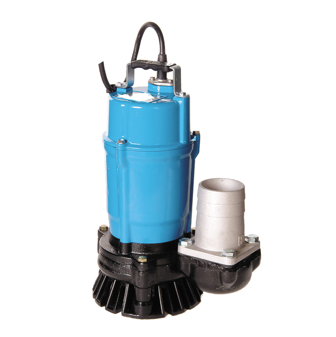 HS3.75S Single Phase Industrial Pump- Tsurumi manual Submersible pump- blue solid cast aluminium body