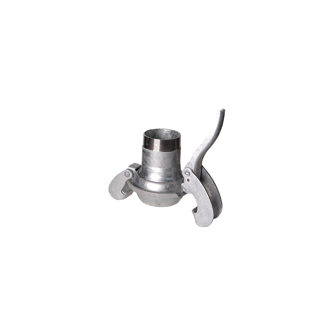 Lever lock coupling - male c/w male BSP - Galvanised Steel