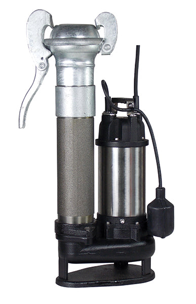 SV Portable Submersible Pump with Lever Lock attached