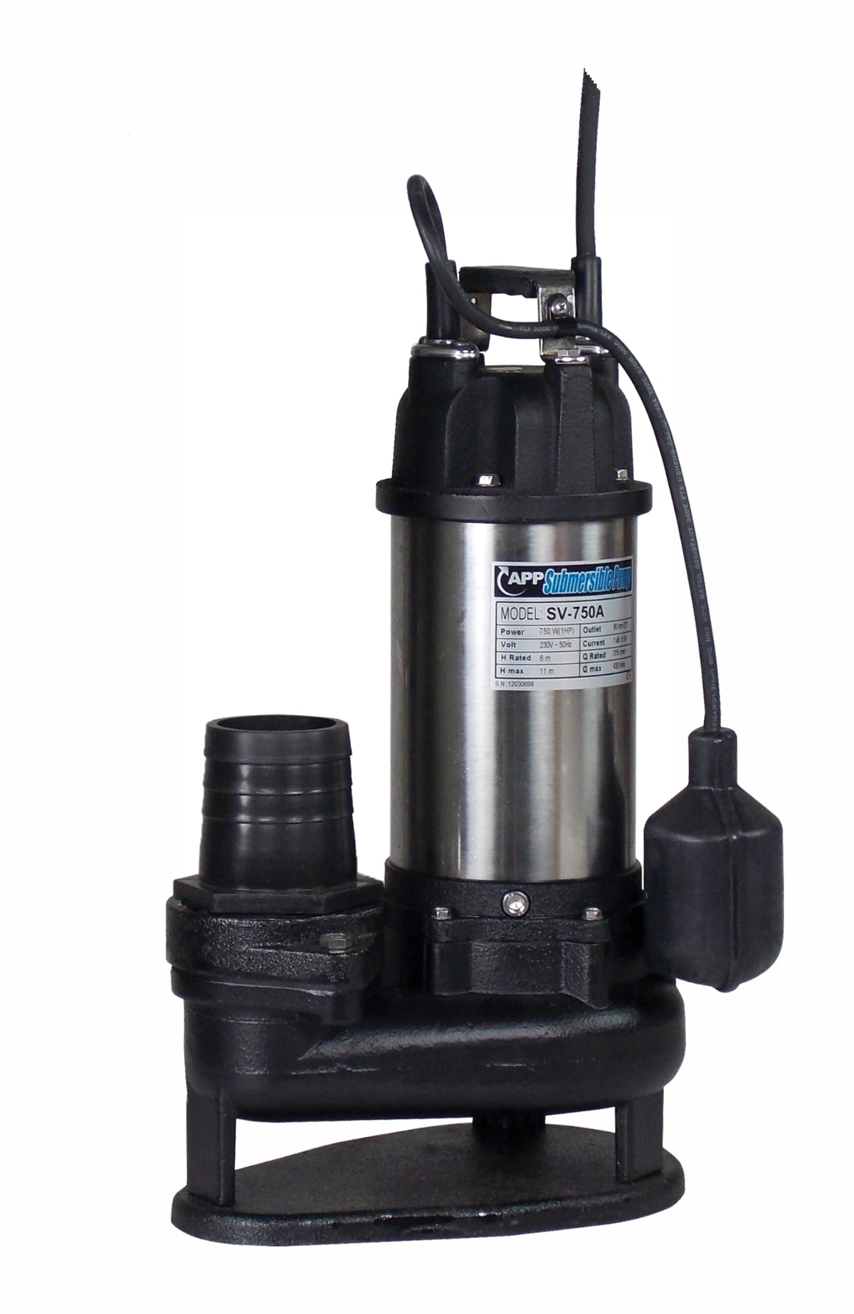 SV-750A Automatic Portable Submersible Pump