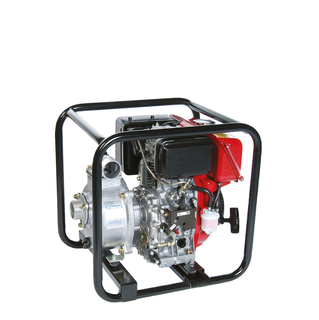 TE-YD Tsurumi Centrifugal Diesel Pump- pump housed within protective tubular frame