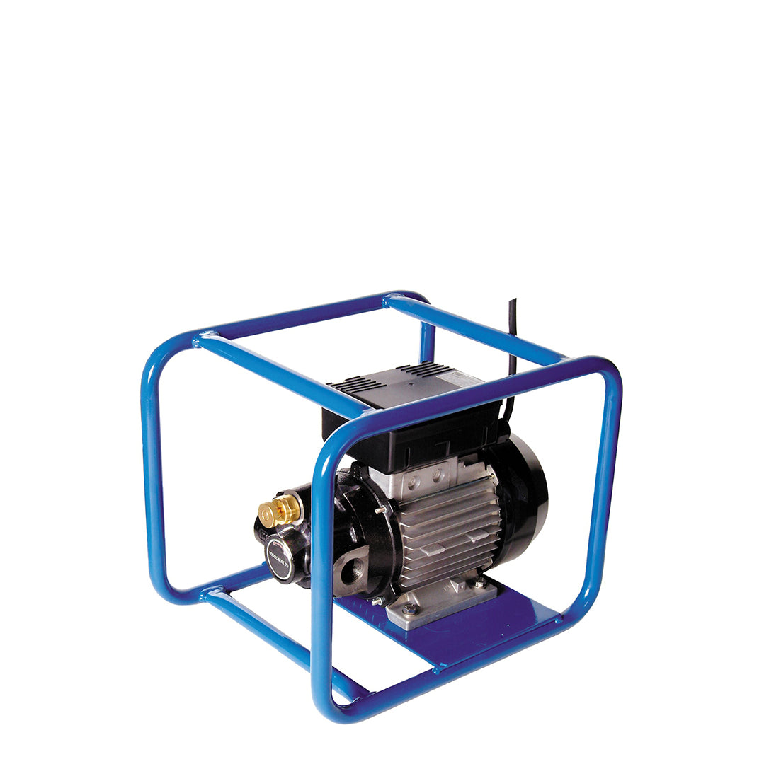 Viscomat Self Priming Rotary Pump - in blue tubular protective frame